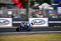 May 19, 2018 - Le Mans, Sarthe, France - 73 ALEX MARQUEZ (ESP) EG 0 0 MARC VDS (BEL) KALEX MOTO2 (Credit Image: © Panoramic via ZUMA Press)