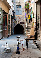 A hookah, or waterpipe, in the old city of Sidon, Lebanon (September 2010).