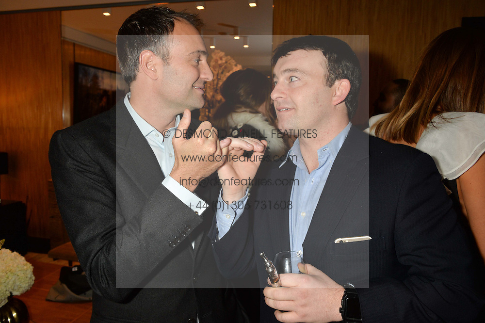 Left to right, BEN GOLDSMITH and ALEX TULLOCH at the Louis Vuitton for Unicef Event #MAKEAPROMISE held at The Apartment, 17-20 New Bond Street, London on 14th January 2016.
