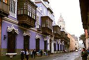PERU, LIMA, ARCHITECTURE Casa de Osambela with balconies