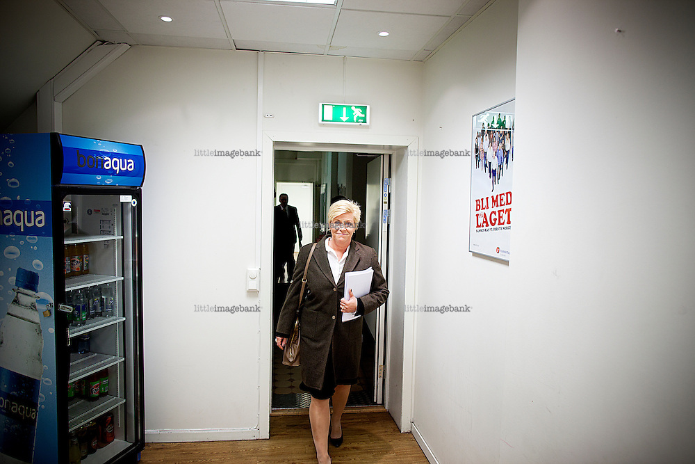Oslo, Norge, 18.04.2012. Fremskrittspartiet holder pressekonferanse i forkant av landsmøte 2012. Foto: Christopher Olssøn.