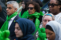London, UK. 14th June, 2018. Mayor of London Sadiq Khan joins members of the Grenfell community and supporters taking part in the Grenfell Silent March through West Kensington on the first anniversary of the Grenfell Tower fire. 72 people died in the Grenfell Tower fire and over 70 were injured.