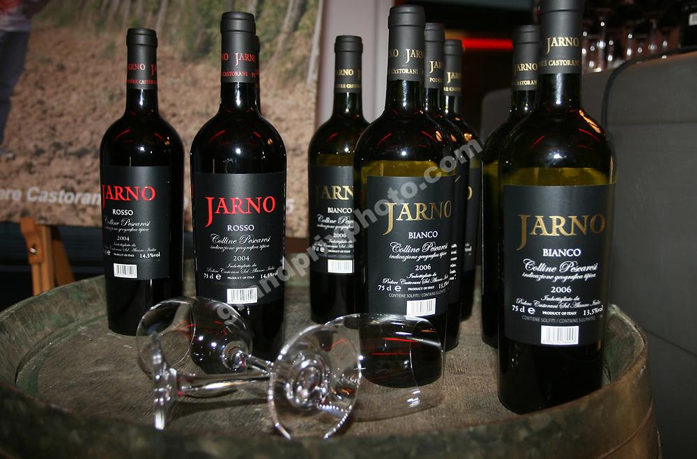 The Jarno Trulli wine at the Toyota iQ launch party before the 2008 Belgian Grand Prix in Spa-Francorchamps. Photo: Grand Prix Photo