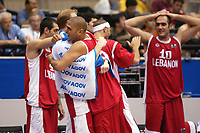 Basketball<br /> VM 2006<br /> Foto: Dppi/Digitalsport<br /> NORWAY ONLY<br /> <br /> BASKETBALL - FIBA WORLD CHAMPIONSHIP 2006 - SENDAI (JAP) - 19/08/2006<br /> <br /> VENEZUELA V LIBANON WINNER / 72-82 - TEAM LEBANON CELEBRATING VICTORY : OMAR EL TURK (LIB) / BRIAN BESHARA-FEGHALI (LIB)