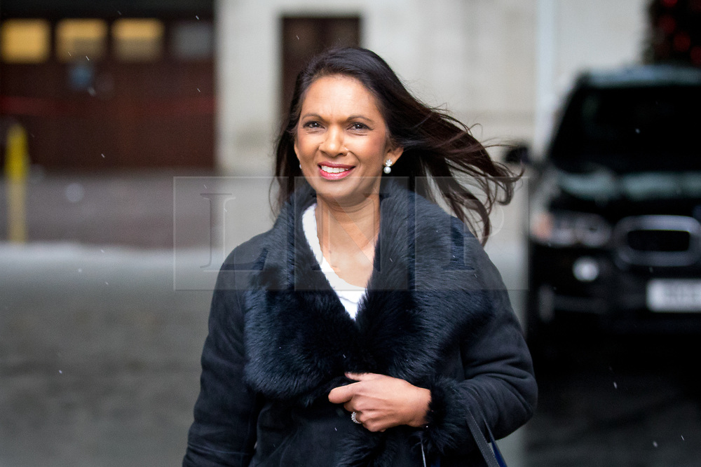 © Licensed to London News Pictures. 10/12/2017. London, UK. Anti-Brexit campaigner Gina Miller leaves BBC Broadcasting House after appearing on The Andrew Marr Show this morning. Photo credit : Tom Nicholson/LNP