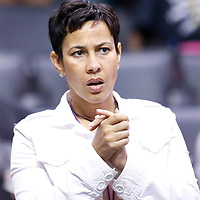 22 June 2014: A fan is seen during the San Antonio Stars 72-69 victory over the Los Angeles Sparks, at the Staples Center, Los Angeles, California, USA.