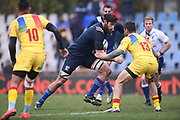 USA player Greg Peterson advances the ball toward the try line in the first half during the November Test match between Romania and USA at Ghencea Stadium, Bucharest, Romania on 17 November 2018.