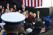 First Lady Laura Bush at The 2008 Veterans Day  Ceremonies at the Intrepid Sea, Air, & Space Musem on November 11, 2008 in NYC