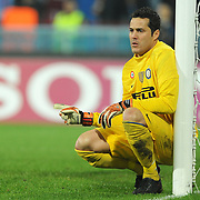 Inter's goalkeeper Julio CESAR during their UEFA Champions League group stage matchday 5 soccer match Trabzonspor between Inter at the Avni Aker Stadium at Trabzon Turkey on Tuesday, 22 November 2011. Photo by TURKPIX