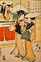 République d'Irlande, Dublin, le musée Chester Beatty, peinture de la période Edo, Japon, 1828 // Republic of Ireland, Dublin, Chester Beatty Museum at the castle garden, painting from Edo period, Japan, 1828