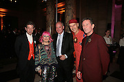 DUGGIE FIELDS, ZANDRA RHODES,  KEVIN BOLTMAN, ANDREW LOGAN AND MICHAEL DAVIS, Montblanc and Katherine Jenkins celebrate The launch of Montblanc's First Fine Jewellery Collectgion. V. & A. London. 24 April 2007.  -DO NOT ARCHIVE-© Copyright Photograph by Dafydd Jones. 248 Clapham Rd. London SW9 0PZ. Tel 0207 820 0771. www.dafjones.com.