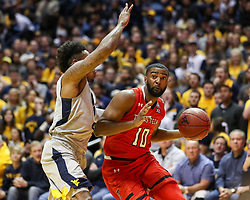 Feb 26, 2018; Morgantown, WV, USA; Texas Tech Red Raiders guard Niem Stevenson (10) drives in the lane during the first half against the West Virginia Mountaineers at WVU Coliseum. Mandatory Credit: Ben Queen-USA TODAY Sports