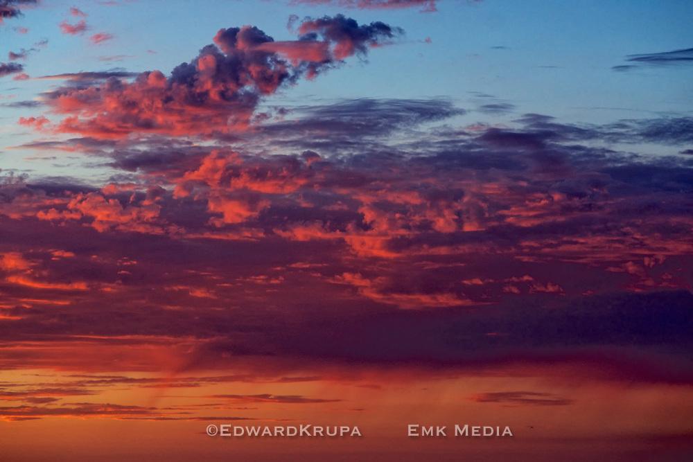 Sky at sunset, San Diego California.