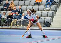 ROTTERDAM -  Noor de Baat (Adam) , dames Amsterdam-Laren  ,hoofdklasse competitie  zaalhockey.   COPYRIGHT  KOEN SUYK