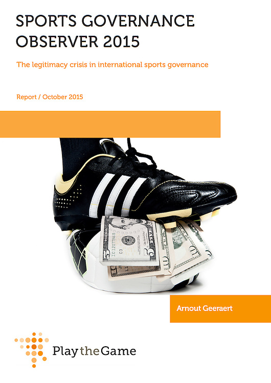 Cover for Sports governance<br /> observer. Play The Game