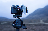 Sony A7R set up with a Lee RF75 graduated filter, waiting and waiting and waiting for a decent sunrise which never came.
