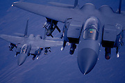 F-15s as night falls