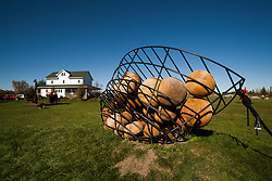 One of the many sculptures on view at Franconia Sculpture Park on the Minnesota side of the St. Croix River