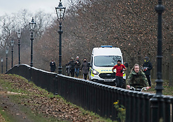 © Licensed to London News Pictures. 11/01/2021. London, UK. Police patrol around Hyde Hyde Park in central London during a third lockdown, aimed at controlling the spread of COVID-19. Government is weighing up introducing stricter lockdown measures which would further restrict how often members of the public could leave home. Photo credit: Ben Cawthra/LNP