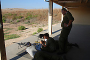 Israeli, an Israeli army firing range, target practice,