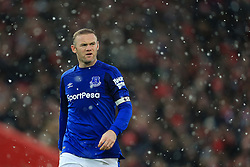 10th December 2017 - Premier League - Liverpool v Everton - Wayne Rooney of Everton in the snow - Photo: Simon Stacpoole / Offside.