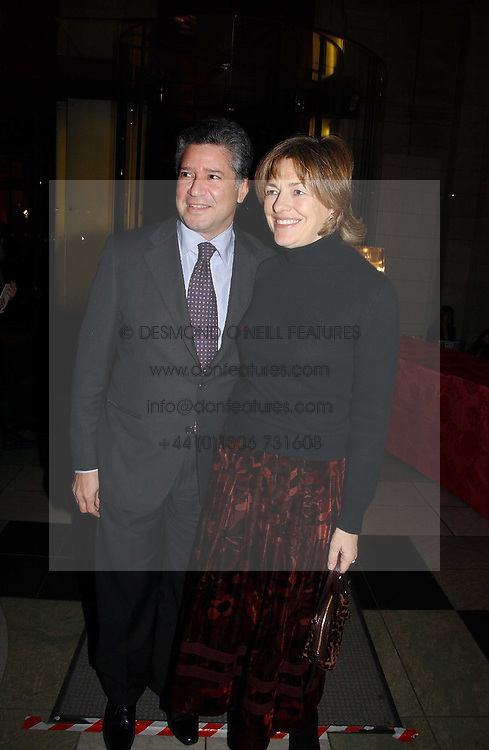 """Writer FLORA FRASER and her husband PETER SOROS attend opening night of """"Kylie - The Exhibition"""" at Victoria & Albert Museum February 6, 2007 in London.<br /><br />NON EXCLUSIVE - WORLD RIGHTS"""