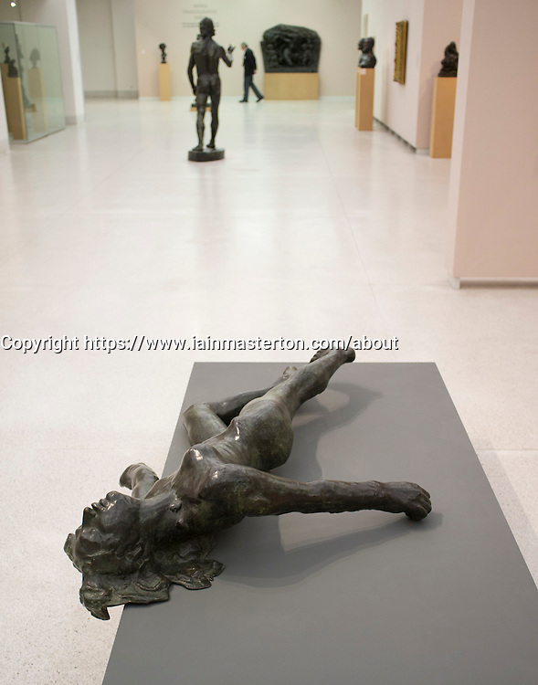 Sculpture The Martyr by Auguste Rodin at Museum of Modern Art or Veletrzni Palace Prague in Czech Republic