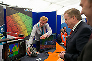 Date: 29/06/2017 Repro free:    Caption: Pat Breen TD Minister for Trade, Employment, Business, EU Digital Single Market and Data Protection with Fearghus Foyle, Yamsu Photo: xposure