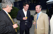 Henry Deedes and Adam Helleiker. The Business Summer party hosted by Andrew Neil. Italian Hotel, Ritz Hotel. 12 July 2005. ONE TIME USE ONLY - DO NOT ARCHIVE  © Copyright Photograph by Dafydd Jones 66 Stockwell Park Rd. London SW9 0DA Tel 020 7733 0108 www.dafjones.com