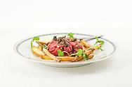 Nederland, Den Bosch 2, 20100623..tartar beef steak with fries.Den Bosch Kookt 2