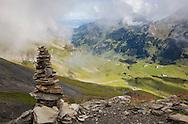 Cairn along the Via Alpina, Swiss Alps