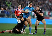 Rome, Italy -In the photo  Venditti opposed by Coles during .Olympic stadium in Rome Rugby test match Cariparma.Italy vs New Zealand (All Blacks). (Credit Image: © Gilberto Carbonari).