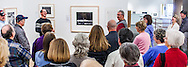 """Kenton Rowe and the crowd having a good laugh while talking about Ansel Adams Photograph """"Moonrise, Hernandez, New Mexico"""" during a 2013 lecture at the Holter Museum of Art"""