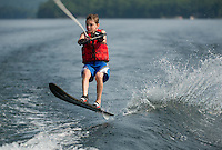 Morin and Digangi waterski session on Lake Winnipesaukee.