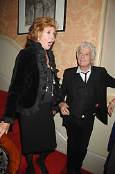 CILLA BLACK and NICKY HASLAM at the engagement party of Vanessa Neumann and William Cash held at 16 Westbourne Terrace, London W2 on 15th April 2008.<br />