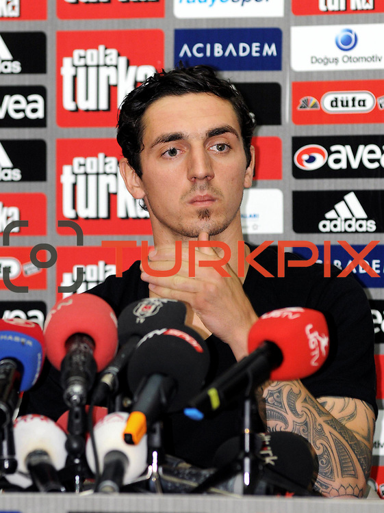 Turkish soccer team Besiktas's new player German Roberto HILBERT poses for media with his new jersey after the signing ceremony in Istanbul, Turkey on 22 June 2010. Besiktas signed a contract with Roberto HILBERT for three years. Photo by TURKPIX