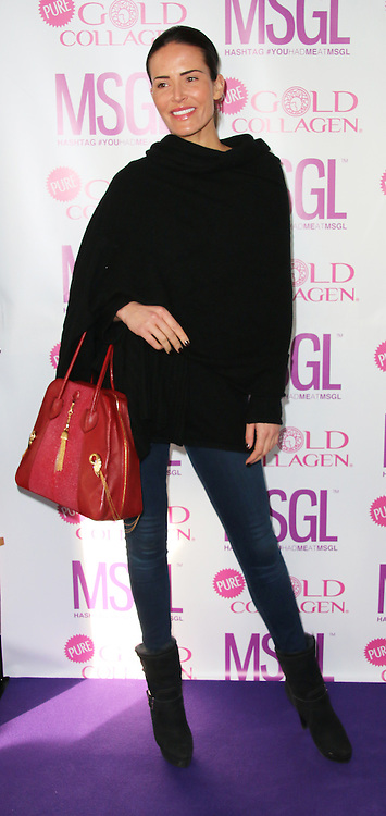 Sophie Anderton, MediaSKIN Gifting Lounge, No1 Leicester Square, London UK, 20 January 2014, Photo by Richard Goldschmidt