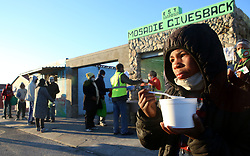 """South Africa - Cape Town - 17 June 2020 - Mikail Herman (9) enjoying his porridge for the morning given to him by Mosadie Gives back. Mosadie Gives Back is a non profit,volunteer feeding scheme for children and families living in Tafelsig. Picture"""" Brendan Magaar/African News Agency(ANA)"""