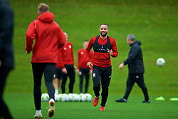 CARDIFF, WALES - Saturday, October 13, 2018: Wales' Ashley 'Jazz' Richards during a training session at the Vale Resort ahead of the UEFA Nations League Group Stage League B Group 4 match between Republic of Ireland and Wales. (Pic by David Rawcliffe/Propaganda)