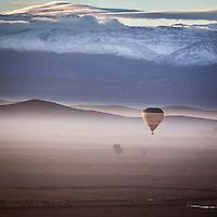 Stunning views from an early morning balloon flight near Marrakech, Morocco.