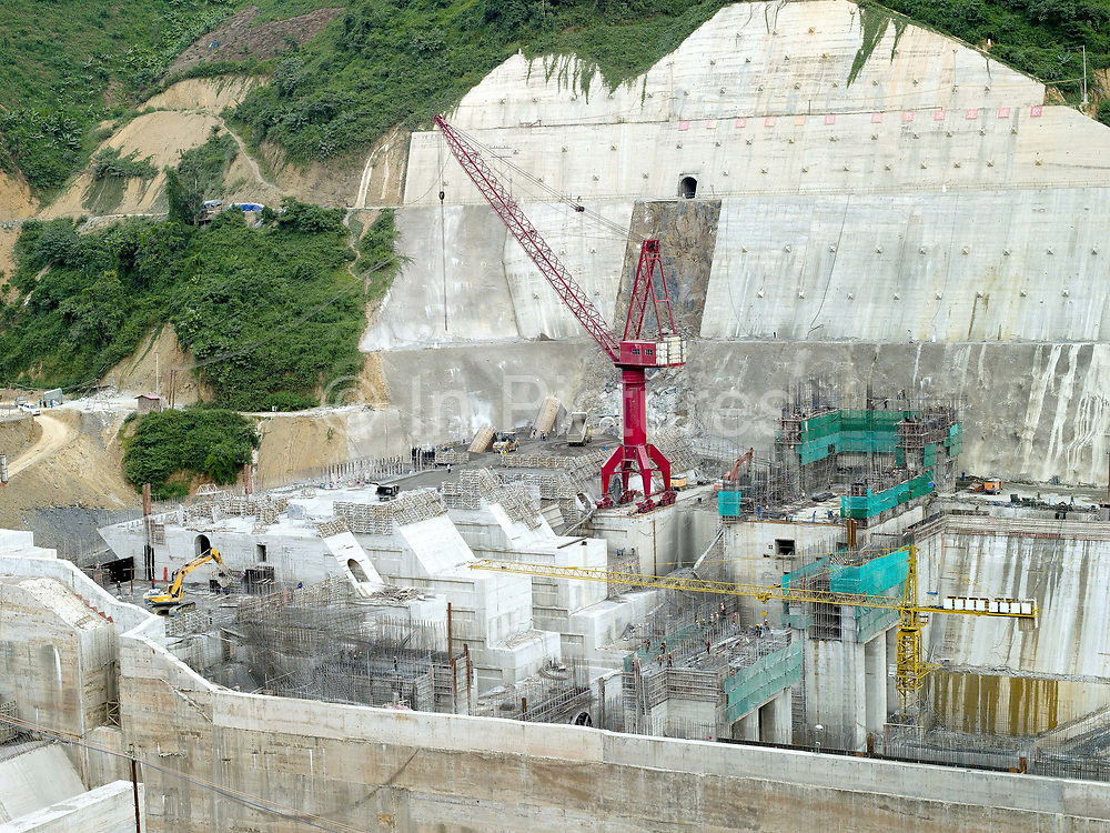 Nam Ou Cascade Hydropower Project Dam 5, Phongsaly Province, Lao PDR.  In the Nam Ou river valley the first phase of construction on the Nam Ou Cascade Hydropower Project by Chinese corporation Sinohydro has begun, the project will generate electricity, 90% of which will be exported to other countries in the region.  The project will directly affect several districts in Phongsaly province through construction, reservoir impoundment and back flooding resulting in loss of land and assets and village relocation. The 425 km long Nam Ou river is a major tributary of the Mekong and is the lifeline of rural communities and local economies.