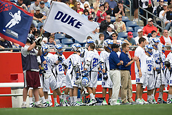 24 May 2008: Duke Blue Devils during a 9-10 loss to the Johns Hopkins Blue Jays at Gillette Stadium during the NCAA Semifinals in Foxborough, MA.