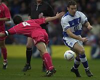 © Peter Spurrier/ SportsBeat Images  020 8 876 8611<br />Photo Peter Spurrier<br />08/03/2003 Football Nationwide Div 2 - QPR v Bristol City<br />Kevin Gallen right goes around Tommy Doherty.