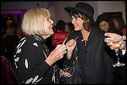 , DIANA RIGG; ALICE ST. CLAIRSotheby's Frieze week party. New Bond St. London. 15 October 2014.