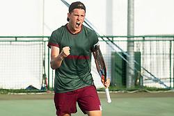 Tristan-Samuel Weissborn of Austria playing semifinal doubles at ATP Challenger Zavarovalnica Sava Slovenia Open 2019, day 8, on August 16, 2019 in Sports centre, Portoroz/Portorose, Slovenia. Photo by Vid Ponikvar / Sportida