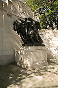 First world war memorial gift statue from Belgium, the Embankment, London