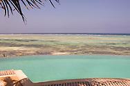 An infinity pool overlooking the sea at the Shooting Star Hotel.  Kiwengwa, Zanzibar, Tanzania