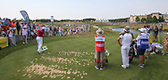 Back of the 16th. Martin Kaymer (GER) plays to the par 3 during Round Two of the 2015 Alstom Open de France, played at Le Golf National, Saint-Quentin-En-Yvelines, Paris, France. /03/07/2015/. Picture: Golffile   David Lloyd<br /> <br /> All photos usage must carry mandatory copyright credit (© Golffile   David Lloyd)