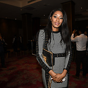 "Keisha White attend Photocall in London Premiere of ""Parwaaz Hai Junoon"" (Soaring Passion) as featured on SKY, ITV at The May Fair Hotel, Stratton Street, London, UK. 22 August 2018."