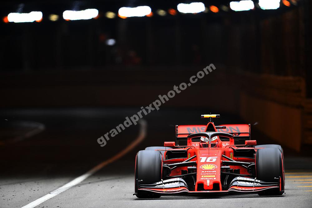 Charles Leclerc (Ferrari) during practice before the 2019 Monaco Grand Prix. Photo: Grand Prix Photo